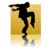 Break dancer gold square
