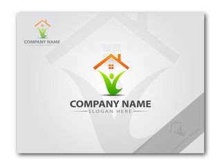Logo for a real estate company