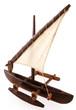 maquette de pirogue malgache à balancier