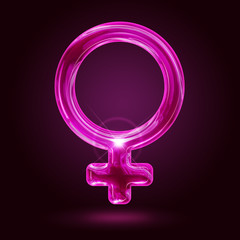 shining female symbol