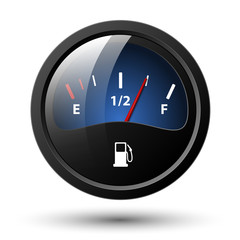 Fuel gauge icon. Vector illustration