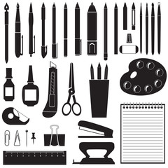 Silhouette of stationery
