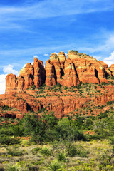 Vertical view of famous red rock in Sedona
