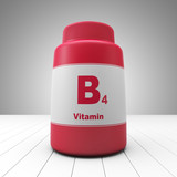Vitamin B4 red bottled bottle