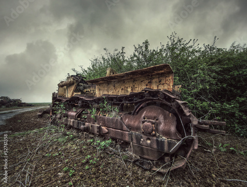 abandoned machine