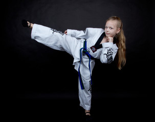 kid doing karate
