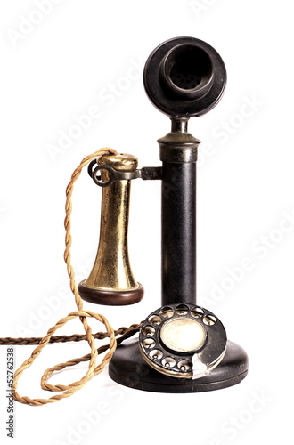 Antique telephone.