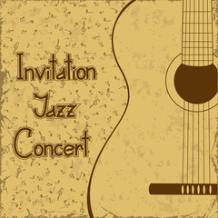 Invitation to concert with guitar