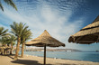Sandy beach of Eilat - famous resort and tourist city in Israel