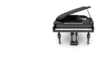 Musica pianoforte tastiera concerto note 3d