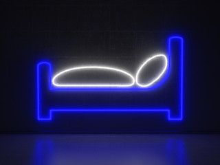 Bed - Series Neon Signs