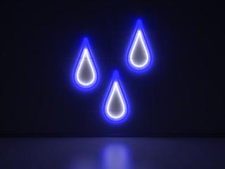 Raindrops - Series Neon Signs