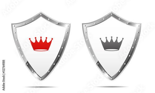 Shields with crown