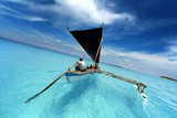 sailing in a tropical lagoon