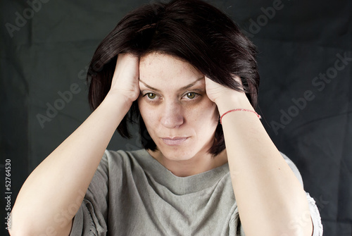 sad abused woman