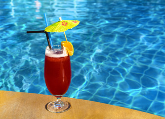 Сocktail Mai Tai near pool