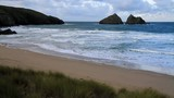 Holywell Bay North Cornwall England UK near Newquay
