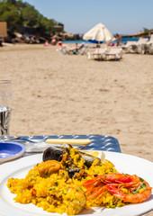 Paella in riva al mar, Cala Gracio, Ibiza