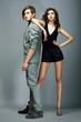 Lifestyle. Well-dressed Couple Fashion Models. Stylishness