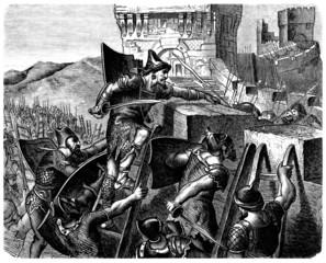 Jews vs Philistins - Battle - Biblical Scene