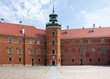 Warsaw, Poland. Old Town - inner square of famous Royal Castle.