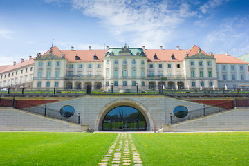 Warsaw, Poland. Old Town - famous Royal Castle. UNESCO World Her