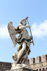Statue of Angel on Ponte Sant'Angelo in Rome