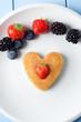 Strawberry Pancake Heart