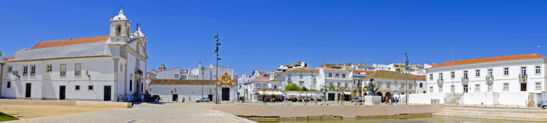 Panorama from the city Lagos in Portugal