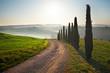 Sunset Tuscany landscape