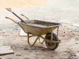 Builder's wheelbarrow.