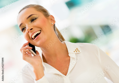 Business woman making a call