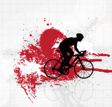 Road bike. Sport illustration