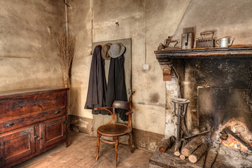 interior of an old country house