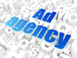 Marketing concept: Ad Agency on alphabet background