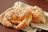 Almond custard croissants