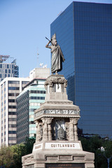 Cuitlahuac monument in the Grand Passeo, Mexico City