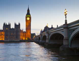 Houses of Parliament, Westminster bridge in the heart of london.