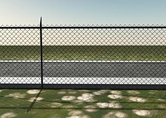 Rete recinzione metallica proprietà