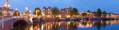 canvas print picture Blauwbrug, Amsterdam