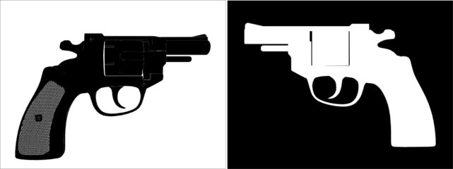Pistol Revolver Vector 05