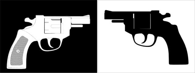 Pistol Revolver Vector 06
