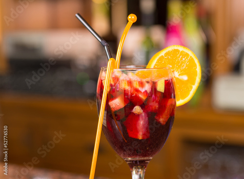 Glass of sangria