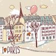 paris urban sketch