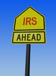 irs ahead post sign