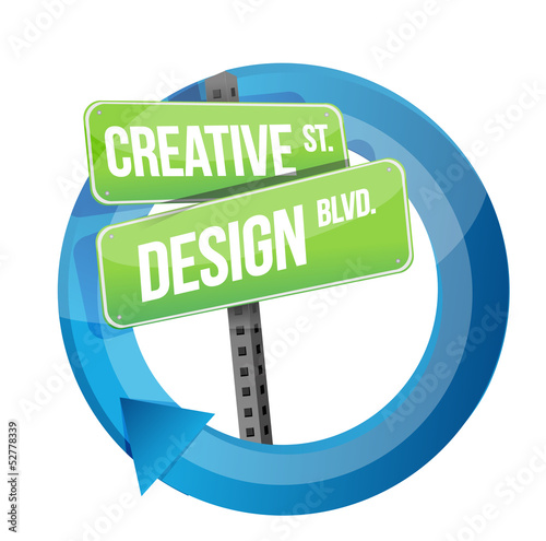 creative design road sign cycle illustration