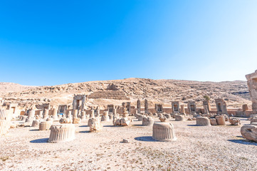 Ruins of Apadana Palace in Persepolis, north Shiraz, Iran.