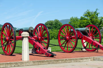 Vintage cannons from American civil war era