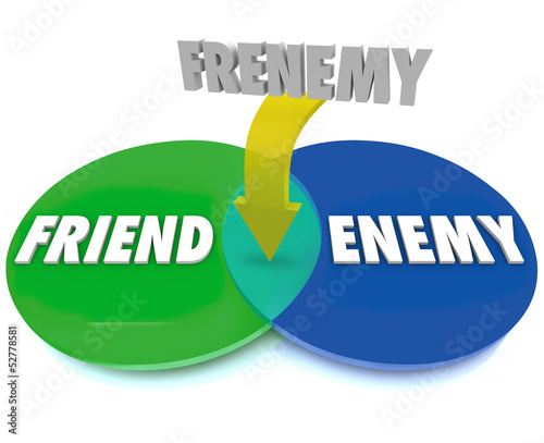 Frenemy Venn Digram Friend Becomes Enemy