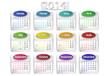 calendrier 2014 moderne cs5 horizontal